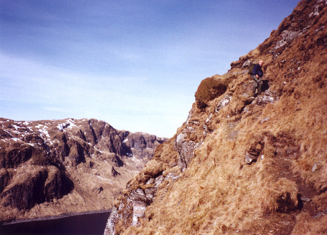Path on the south ridge of Meall Corranaich