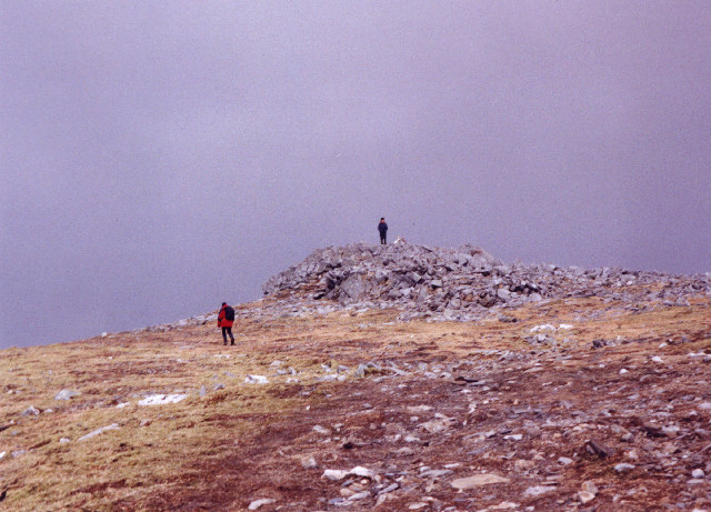 The summit of Meall nan Aighean