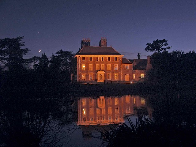 Forty Hall with Crescent Moon