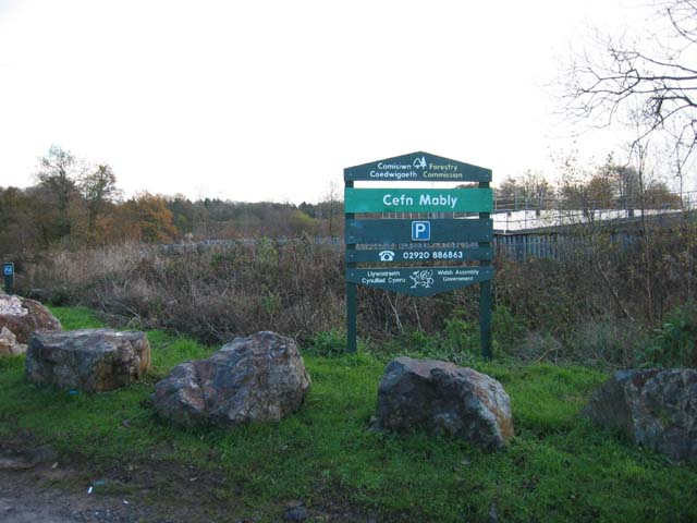 Entrance to Cefn Mably woods