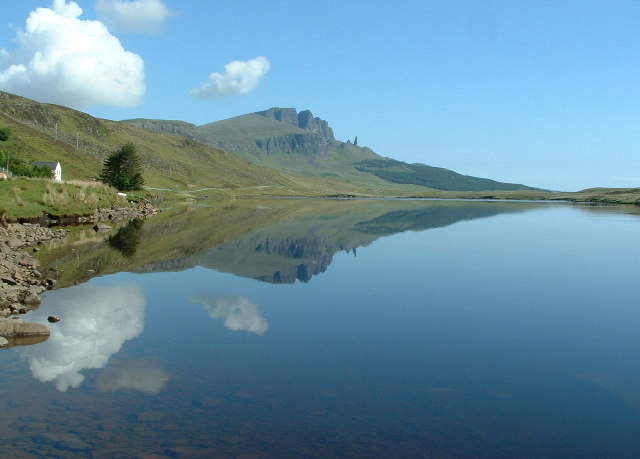 Reflection of the Storr in Loch Fada