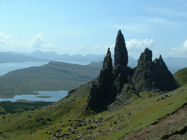 The Old Man of Storr and other pinnacles