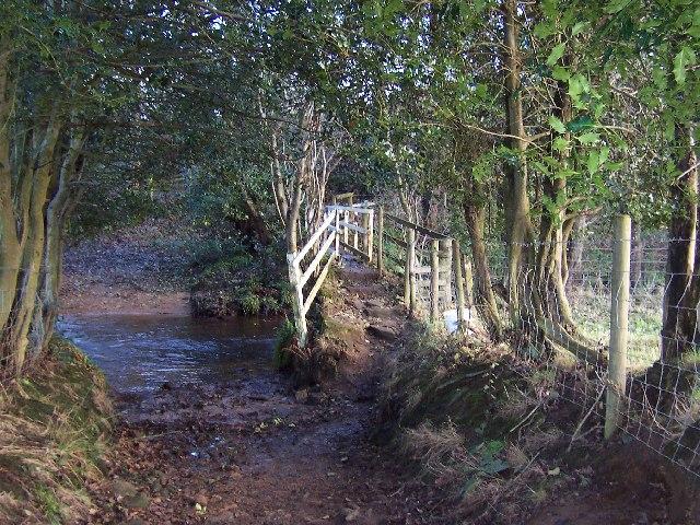 Footbridge over the River Laver