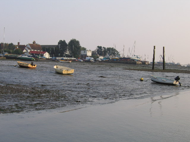 West Mersea at low tide