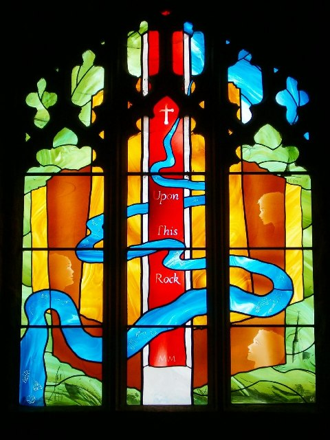 Stained Glass Window in the Chapel of Goodrich Castle