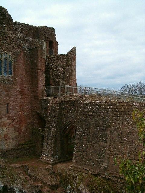 Entering Goodrich Castle