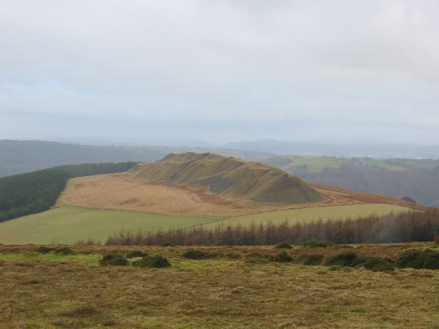 Old spoil heaps above Machen