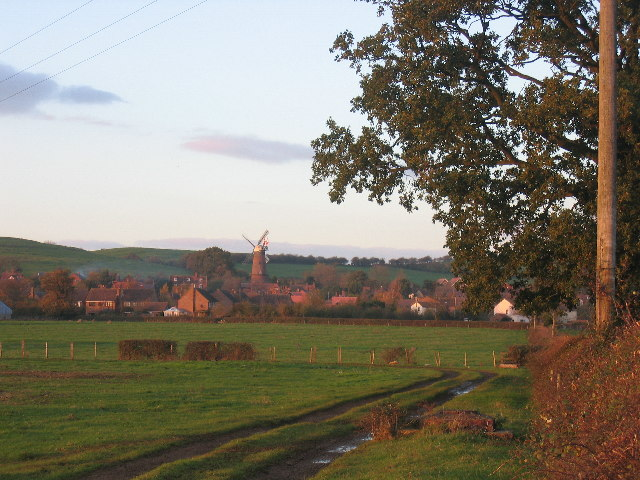 Quainton at sunset from the south