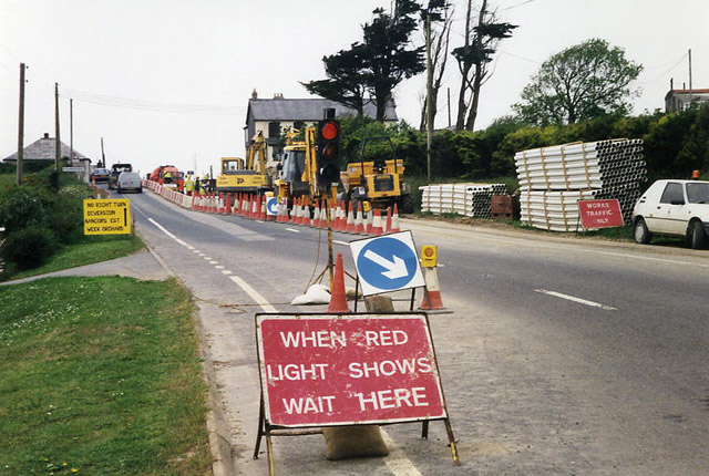 Poundstock: realigning the A39 at Bangors