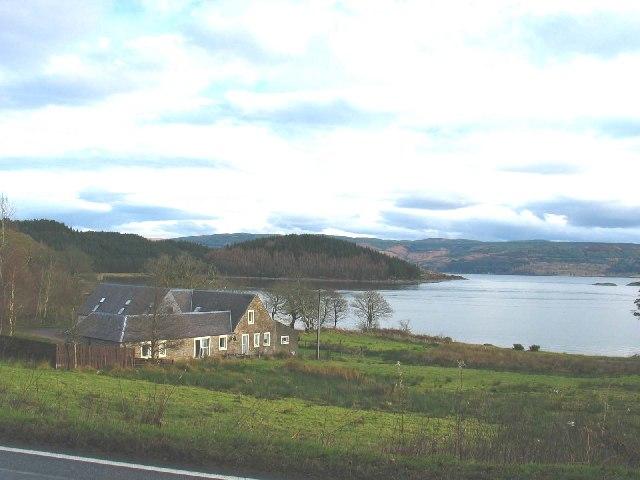 Achnaba Cottages overlooking Loch Fyne.