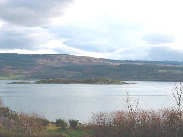 Glas Eilean (island) off Port Ann,Loch Fyne, Argyll.