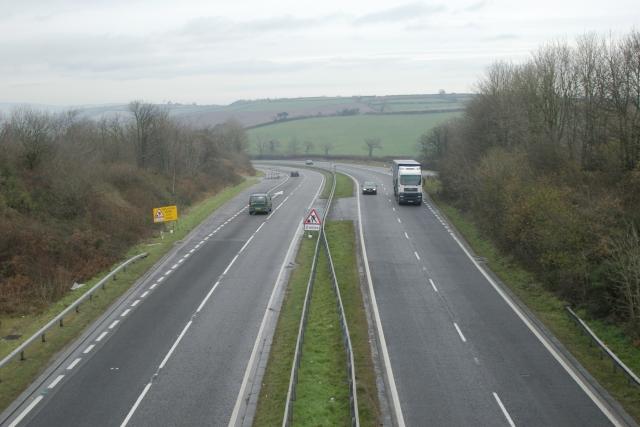 A38, near Dean Prior, Devon