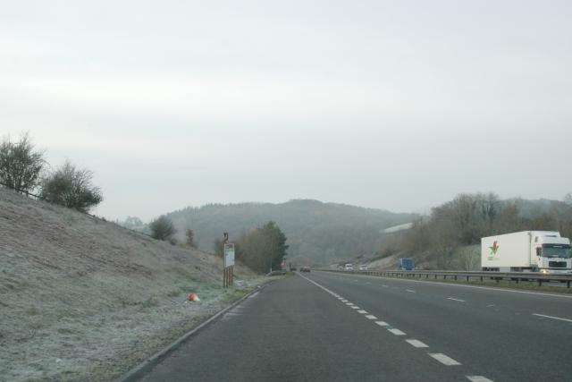 A38 near Chudleigh, Devon
