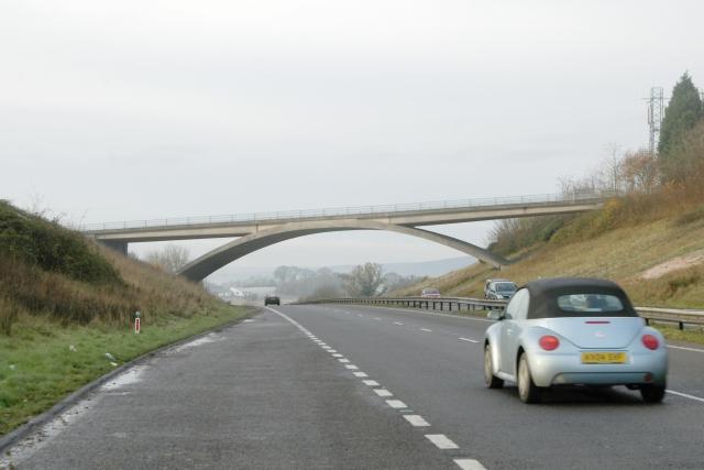 A38 overbridge, Chudleigh, Devon
