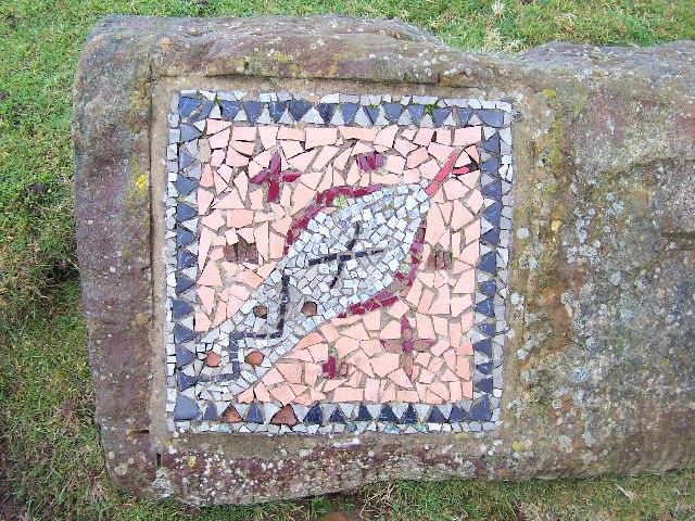 Mosaic on edge of Kirkby Malzeard Moor