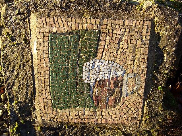 Mosaic outside Drovers Inn