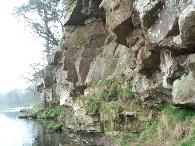 Outcrop on the Banks of the Coquet with Rock Carvings