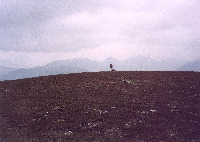 on the summit dome of  Beinn Dearg
