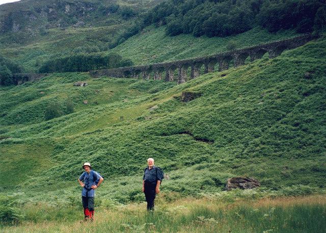 the Glen Ogle railway viaduct