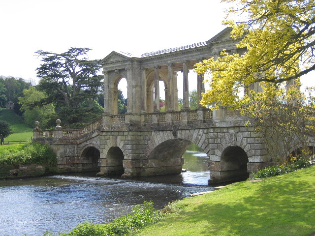 Palladian Bridge over River Nadder, Grounds of Wilton House, Wilton, Wiltshire