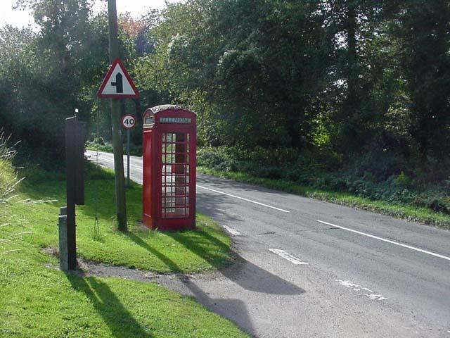 Telephone box at Hillersland