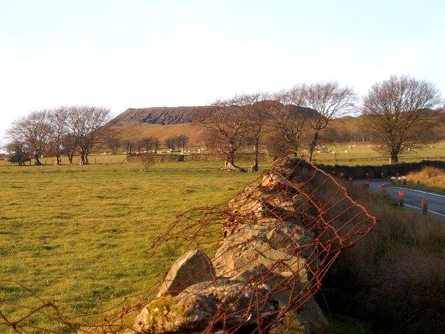 The stone dust pile Gelligaer Quarry