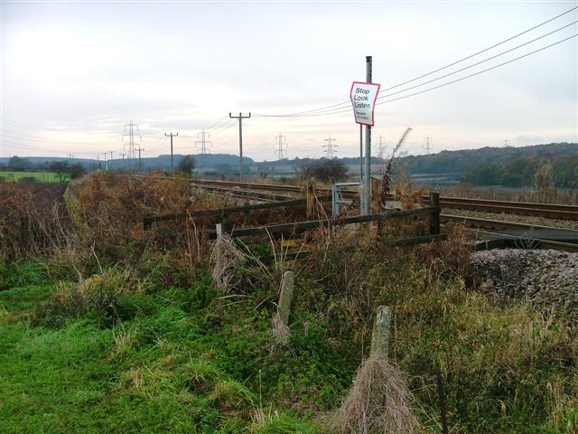 Public Footpath Crossing of Railway, Edwinstowe