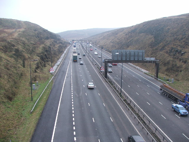 M62 cutting between Rook Stones Hill and Black Moor.