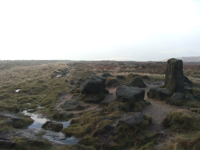 The Aiggin Stone and Roman road.
