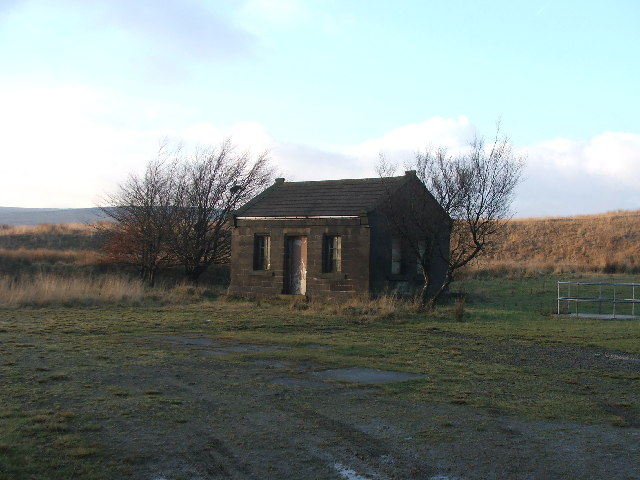 Small building at Green Withens Reservoir.