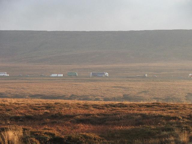 M62 at Moss Moor.