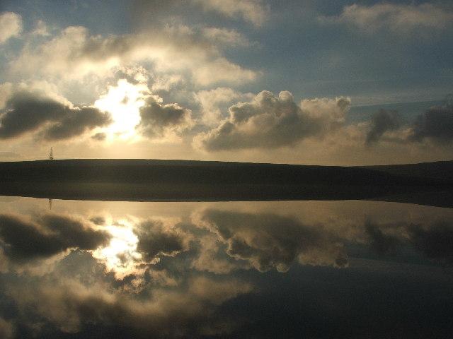 Green Withens Reservoir.