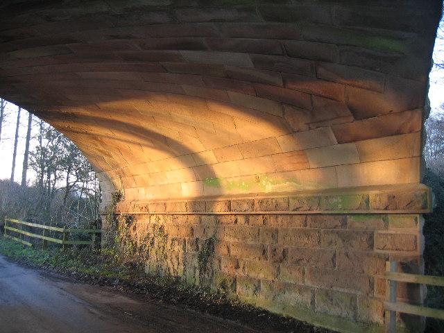Underside of railway bridge over Umberslade Hall driveway