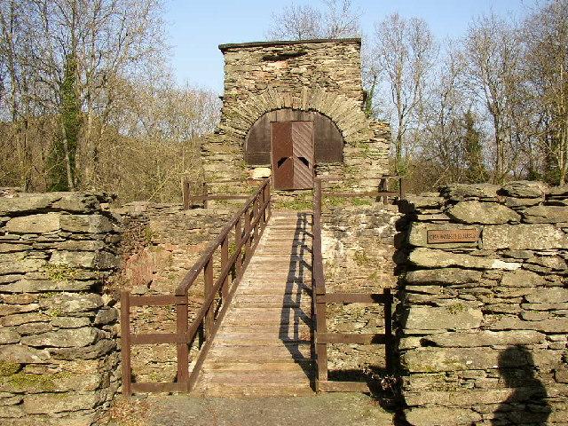 Duddon Iron Furnace, the barrow-way