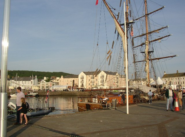 The south end of Whitehaven Harbour, with a 'tall ship'