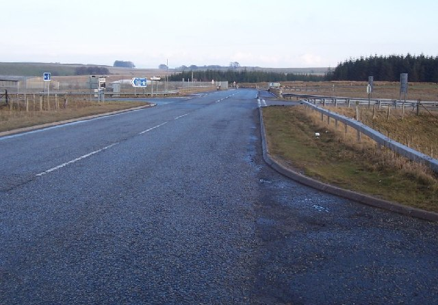 A high motorway junction.