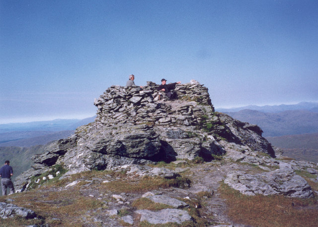 The summit of Beinn Ime