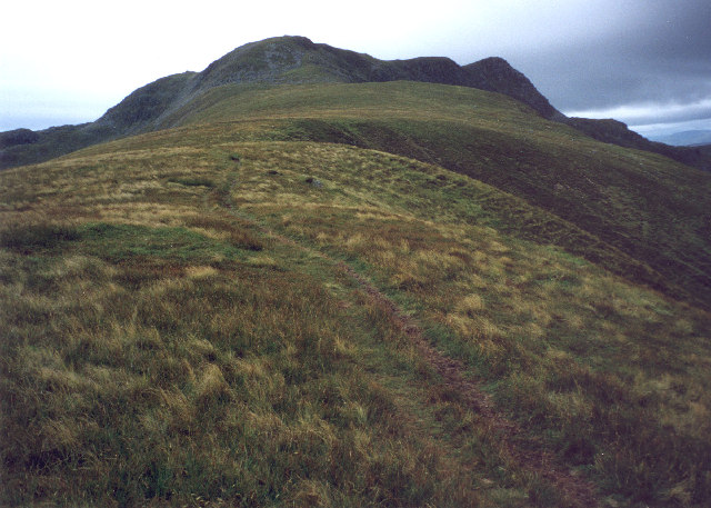 the grassy south-east ridge of Stuc a'Chroin