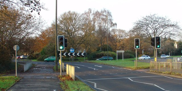 Cheals Roundabout. Junction of A23 and A2220, Crawley West Sussex
