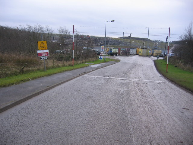 Entrance to an almost full landfill site.