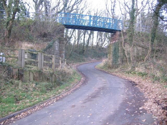 Cycle track bridge.