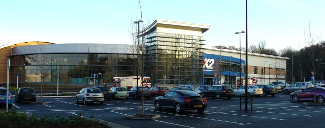 K2 Leisure Centre, Crawley, West Sussex - View from NW