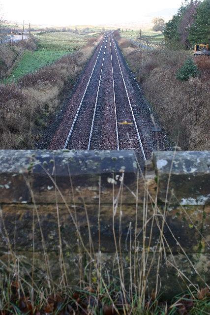 Railway lines at Kirkconnel