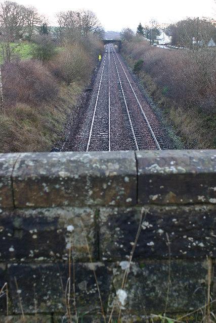 Railway lines near kirkconnel