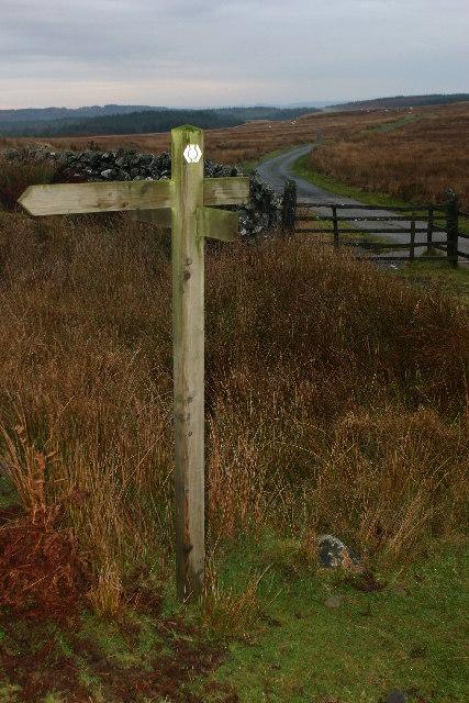 Southern Upland Way signpost