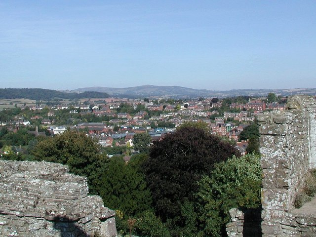 View from Ludlow Castle Great Tower