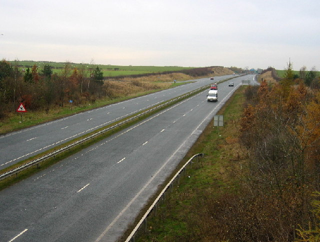 The A696 east of Low Luddick