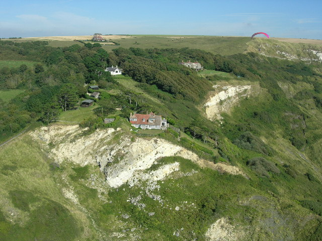 Houses above Ringstead Bay