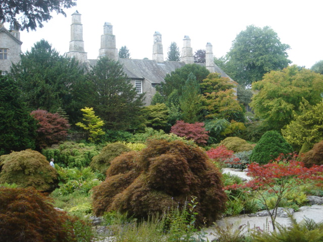 Sizergh Castle from rock garden
