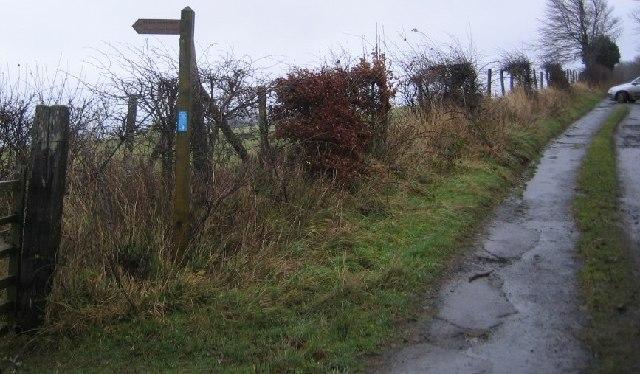 Footpath to Wood Farm.